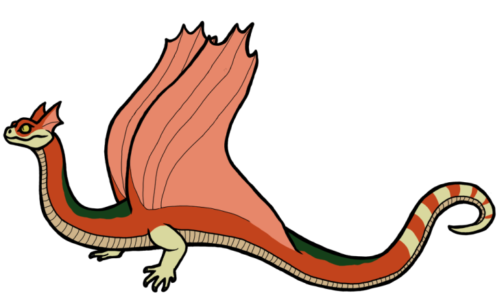 6 Serpents gliding serpent