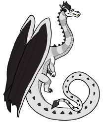 A Diamond Regent Dragon with the white color morph
