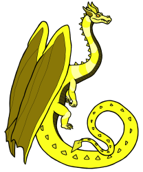 A Diamond Regent Dragon with the yellow color morph.