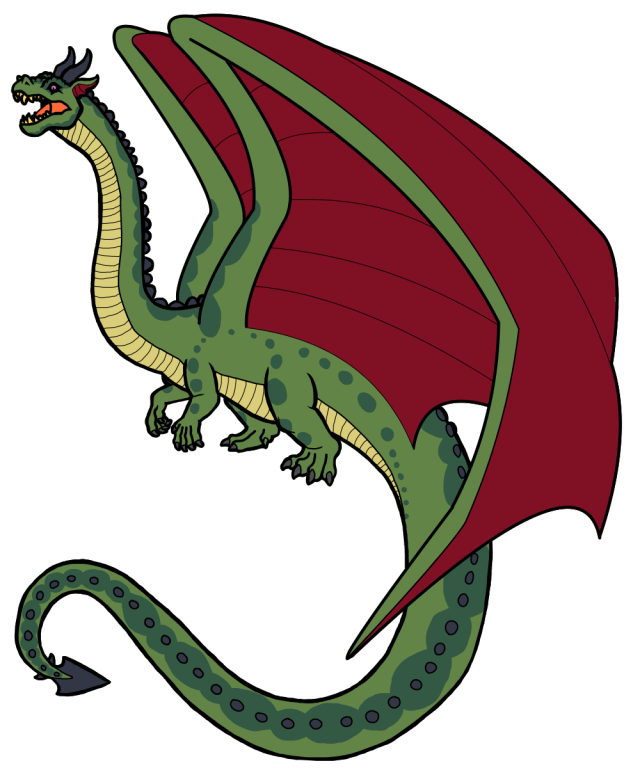 Queen Claire Dragon green